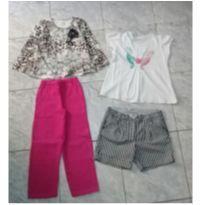 Lotinho usado menina - TAM 6/8 - 4 anos - Chicco e Projeto Tamar