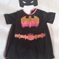 Fantasia Batgirl com mascara em e v a - tamanho 06 - 6 anos - Sem marca
