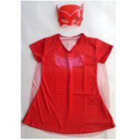 Fantasia Corujita com mascara ( plastico) tamanho 04 - 4 anos - Sem marca
