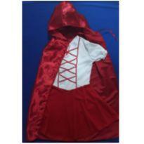 Fantasia Chgapeuzinho Vermelho - tamanho 02 - 24 a 36 meses - Sem marca