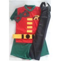 Fantasia Robin Infantil com capa tamanho 01 - 1 ano - Sem marca