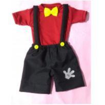 Fantasia Mickey Infantil -  tamanho 04 - 3 anos - Sem marca