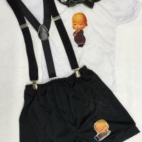 Fantasia Poderoso chefinho infantil - tamanho 01 - 1 ano - Sem marca