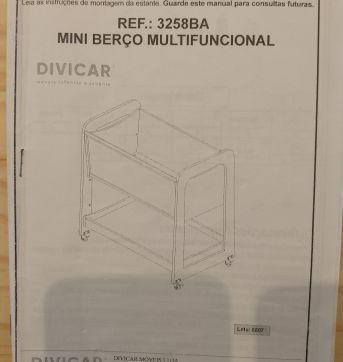 Mini Berço Multifuncional Divicar - Sem faixa etaria - Divicar
