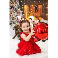 Vestido vermelho tule - 24 a 36 meses - Mon Sucré