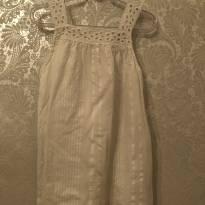 Vestido branco - 3 anos - Zara