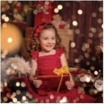 Vestido renda vermelho - 4 anos - Petit Cherie