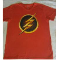 Camiseta do Flash com logo escuro - 12 anos - DC Comics e bandUP