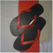Chinelo preto e vermelho - 35 - Grendene e ipanema
