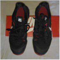 Tênis NIKE DUAL FUSION Preto e Vermelho quase novo - 36 - Nike