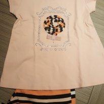 Conjuntinho verao - camiseta e short (salmão) - 2 anos - Milon