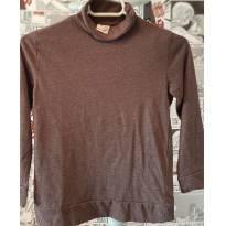 Camiseta Gola Alta Zara Cinza - 7 anos - Zara