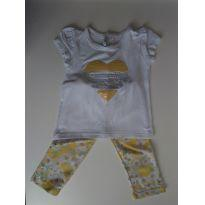 Conjuntinho fofo floral - 9 a 12 meses - Mini & Classic