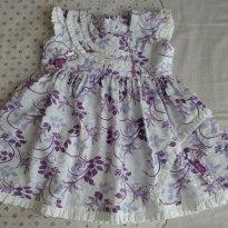 Vestido estampa lilás - 12 a 18 meses - Pit Belinha