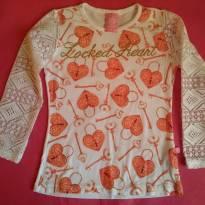 Blusa malha manga renda - TAM 4 - 4 anos - Cativa