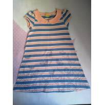 Vestido malha azul e rosa - Mineral Kids - Tam 4 - 4 anos - Mineral Kids