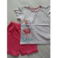 Conjunto short e blusa flamingo - TAM 2 - 2 anos - Jumping Beans