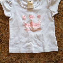 Blusa com aplique de coroa - 9 a 12 meses - Colorittá