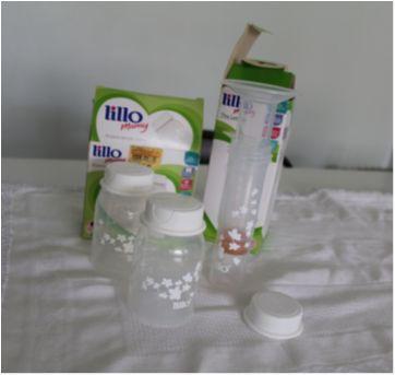 Tira leite Lillo manual + 2 potes para armazenar leite - Sem faixa etaria - Lillo