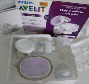 Extrator Elétrico Pétala Philips Avent + Conjunto de potes para armazenar Leite - Sem faixa etaria - Avent Philips e Philips