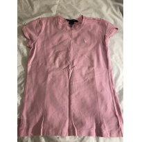 camisa malha rosa  ralph lauren muito novinha - 12 anos - Ralph Lauren