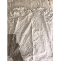 camisa de malha com detalhes de flor na manga zara - 9 anos - Zara