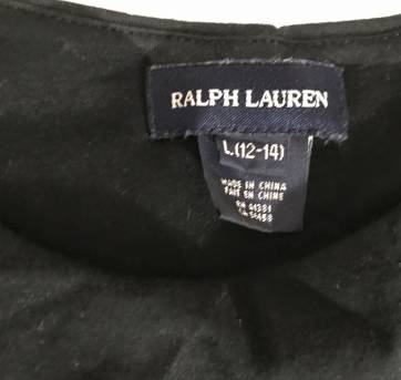vestido malha preto com caveira bordada nunca usado Ralph Lauren - 12 anos - Ralph Lauren