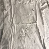 camisa malha lisa branca Ralph Lauren - 10 anos - Ralph Lauren