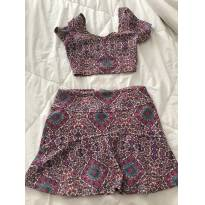 conjunto cropped e saia da Dress To estampado - 12 anos - DRESS TO