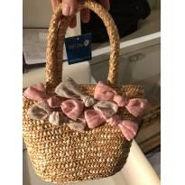 bolsa de palha com etiqueta forrada e aços bordados - Sem faixa etaria - Várias