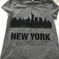 camisa malha estampa new york - 10 anos - Várias
