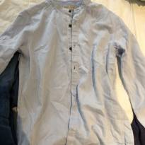camisa tecido botao zara - 9 anos - Zara