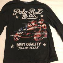 camisa manga comprida malha  Ralph Lauren - 10 anos - Ralph Lauren