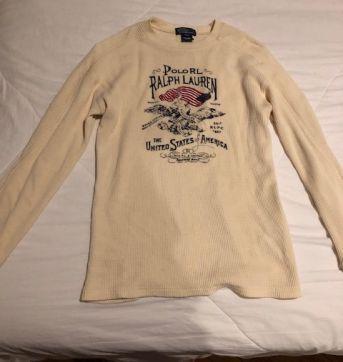 camisa manga comprida malha canelada Ralph Lauren - 8 anos - Ralph Lauren