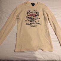 camisa manga comprida malha canelada Ralph Lauren