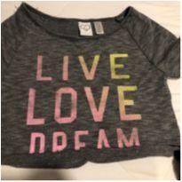 croped i love dream tecido atoalhado muito macio - americana - 8 anos - Importada