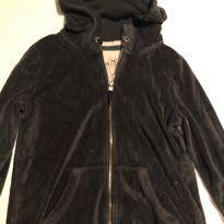 casaco plush hollister preto - 12 anos - Hollister