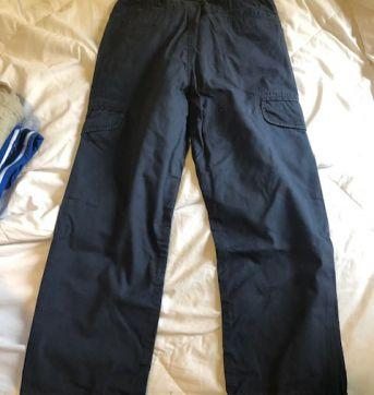 calça cargo azul old navy - 10 anos - Old Navy