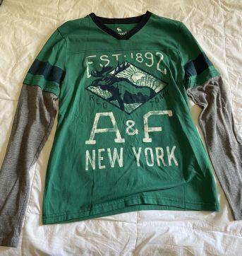 camisa malha abercrombie manga comprida - 13 anos - Abercrombie