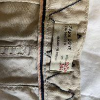 bermuda tecido caqui zara - 13 anos - Zara