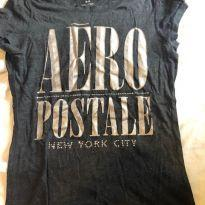camisa malha aeropostale cinza chumbo - 12 anos - aeropostale e M. officer