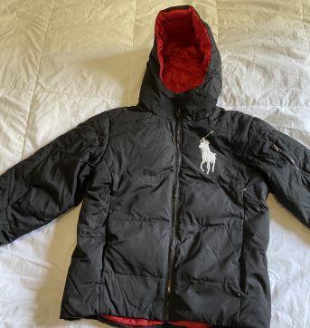 casaco preto para neve ralph lauren nunca usado - 10 anos - Ralph Lauren