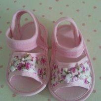 Sapatinho rosa floral - 15 - Pimpolho