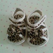 Sandalinha onça com cristal - 14 - Araçá Baby