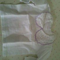 Pagãozinho bordado com poá lilás - Recém Nascido - Não informada