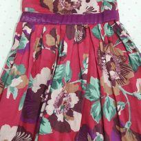 Vestido floral com detalhes em paetes lilás - 24 a 36 meses - Não informada