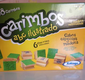 28 carimbos divertidos - Brinquedo Educativo - Sem faixa etaria - Xalingo