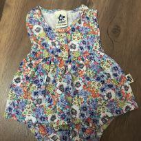 Vestido Floral - 0 a 3 meses - Sem marca