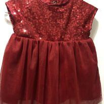 Vestido Vermelho Cat & Jack - 3 a 6 meses - Cat & Jack- EUA