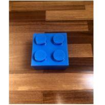 Caixa Lego azul - porta-trecos, porta-Lego e lancheira -  - Lego